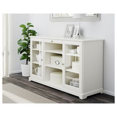 IKEA - LIATORP, Sideboard, Use this as base for breakfast bar return. Replace top with 900 countertop. Shelves & drawers to kitchen side. Cost $399