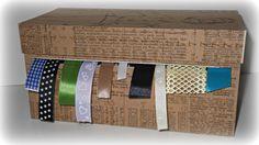 Tutorial: Organizador de cintas o listones con cartón pluma   Organizaci...