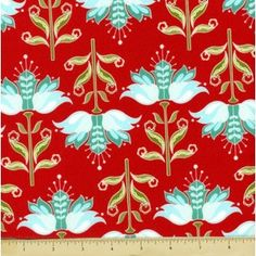 Apple Of My Eye Cotton Fabric - Floral - Red - Fashion Fabric