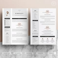 Sjabloon voor professionele CV & Cover brief door OddBitsStudio