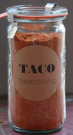 A reduced sodium, sugar and preservative free recipe for a smoky taco seasoning.