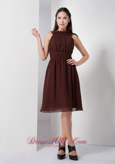 Cheap Fall Brown Dresses Prom Dress