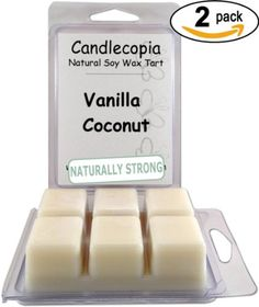 Candlecopia Vanilla Coconut 6.4 oz Scented Wax Melts - A buttery rum top note leading to a sweet creamy vanilla with toasted coconut - 2-Pack of naturally strong scented soy wax cubes throw 50+ hours of fragrance when melted in Scentsy®, Yankee Candle® or standard electric tart warmer Candlecopia http://www.amazon.com/dp/B00IOPLWY6/ref=cm_sw_r_pi_dp_cCZvvb1B5ZKC1