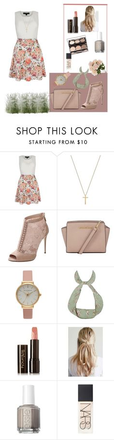"""Untitled #201"" by vykabackhand ❤ liked on Polyvore featuring Mela Loves London, Gucci, Dolce&Gabbana, MICHAEL Michael Kors, Olivia Burton, Hourglass Cosmetics, Nude by Nature, Essie, NARS Cosmetics and women's clothing"