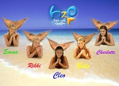 Emma, Rikki, Cleo, Bella, and Charlotte. H2o Mermaids, Mermaids And Mermen, Phoebe Tonkin, Disney Channel, Rikki H2o, H2o Mermaid Tails, Indiana Evans, Film Disney, Mermaid Pictures