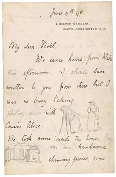 Beatriz Potter: Autograph letter signed, London, to Noel Moore   June 4, 1895, page 1   The Morgan Library & Museum
