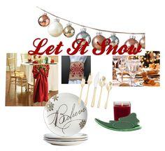 """Let It Snow"" by sotokay-3 on Polyvore featuring interior, interiors, interior design, home, home decor, interior decorating, Improvements, Aromatique and Cambridge"