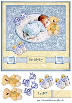 Very cute card for a new baby boy.