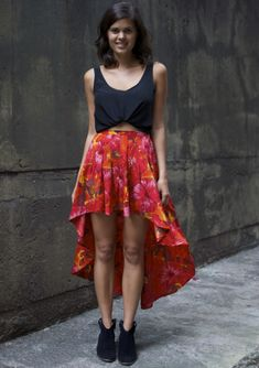Fishtail DIY - refashion a maxi skirt to a fishtail skirt