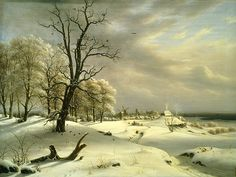 View of Elsinore, Winter, 1833 by Thomas Fearnley