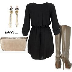 I want this dress and these boots!!