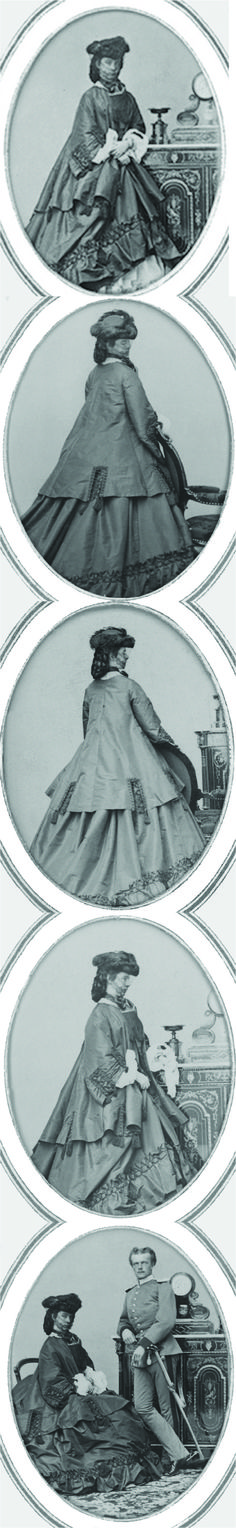 Sisi wearing dark dress set - Empress Elisabeth of Austria (due to the movie also known now as Sissi, 1837-1898)