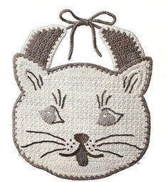 Kity Kity crochet baby bib vintage crochet pattern by Ellisadine, £1.15