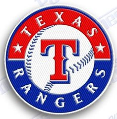 FREE SHIPPING IN THE USA - TEXAS RANGERS  iron on embroidery patch - 2.0 X 2.0 iNCHES ..  HIGHEST QUALITY - 100% EMBROIDERED PATCHES - baseball mlb - iron it on or sew it on