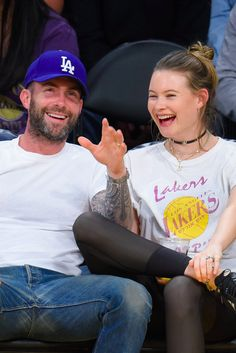 Adam Levine Home / Mansion - Adam Levine and Behati Prinsloo Leave Their Baby Girl at Home For a Date Night - Celebrity Adam Levine of Maroon 5 Luxurious Home / Mansion Celebrity Couples, Celebrity Style, Adam Levine Style, Adam Levine Behati Prinsloo, Adam And Behati, Girl House, Maroon 5, Tomboy Fashion, Cute Couples