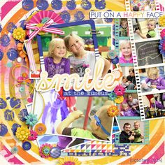 Kit: Create Your Own Happy by Juno Designs Template: Vegas Strip by Fiddle Dee Dee Designs