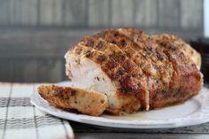 Seasoned Roast Turkey Breast Boneless Recipe - this easy recipe gets gobbled up by my family! #recipes