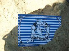 *Küstenmädel*  Schiff Ahoi! Postkarte Segeln von Küstenmädel auf DaWanda.com