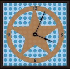 """Lone Star 11"""" Art Wall Clock"""
