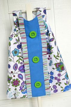 "Pattern is ""Charlotte"" by Children's Corner patterns. Fabrics are all Fabric Finders."