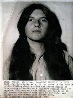 Patricia Dianne Krenwinkel (born December is an American murderer who… Famous Murders, Charles Manson, Sharon Tate, Weird Pictures, Badass Women, Criminal Minds, Serial Killers, True Crime, American Crime