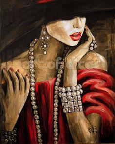 The girl in the red velvet