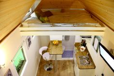 Tiny House Interior--These tiny houses are awesome, but I think I claustrophobia might kick in.