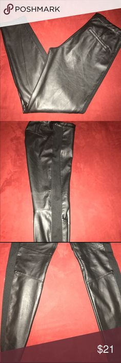 H&M Faux real leather like Pants Like New  Size 10 Great thick just like real leather just with some stretch. H&M Pants Skinny
