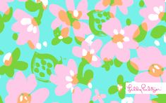 Lilly Pulitzer Mojo Print Wallpaper