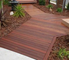 Timber Deck Cleaning in Gold Coast The deck area which is one of the most visited area and much liked by many should wear a neat look and also should be a place which has. Hardwood Decking, Installing Hardwood Floors, Timber Deck, Wood Decks, Modern Landscape Design, Modern Landscaping, Backyard Landscaping, House Deck, House Front