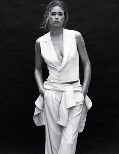 Doutzen Kroes by Daniel Jackson for Harper's Bazaar Korea June 2012 #editorial #fashion #studio