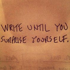 Keep writing.