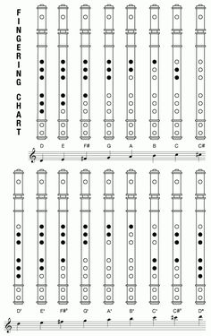 Visit the post for more. Flute Fingering Chart, Recorder Fingering Chart, Recorder Notes, Recorder Music, Native Flute, Native American Flute, Music Tabs, Music Notes, Music Lesson Plans