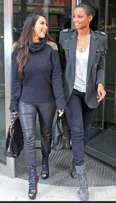Kim Kardashian & Ciara