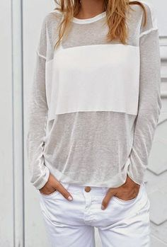 Casual, Chic, White Clean and Crisp Looks Style, Style Me, Casual Chic, Look 2015, Casual Outfits, Cute Outfits, Mein Style, Inspiration Mode, Look Fashion