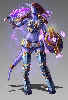 Draenei by Kyle Herring World Of Warcraft Game, Warcraft 3, Character Concept, Character Art, Character Design, Dark Fantasy Art, Fantasy Girl, Fantasy Characters, Female Characters