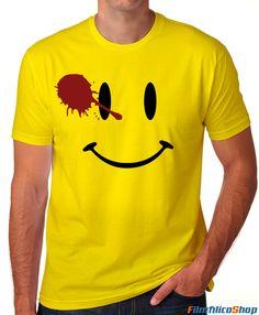 Camiseta Watchmen del comediante. La encontrarás en filmfilicoshop http://filmfilicoshop.com/tienda/camisetas-cine/camiseta-watchmen