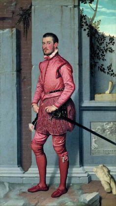 Giovanni Battista Moroni, Cavaliere in rosa (The Gentleman in Pink - portrait of Gian Gerolamo Grumelli) 1560, oil on canvas, Palazzo Moroni, Bergamo, Italy