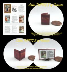 JANE ERYE Illustrated Readable Miniature Book Dollhouse 1:12 Scale Book by LittleTHINGSinterest on Etsy