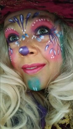Charismatic Make-up / Vastelaovend / Carnival! Make-up / Vastelaovend / Carnival! Sugar Detox Cleanse, Sugar Detox Plan, 21 Day Sugar Detox, Contour Makeup, Makeup Lipstick, Facial, Clown Faces, Festivals Around The World, Costume Makeup