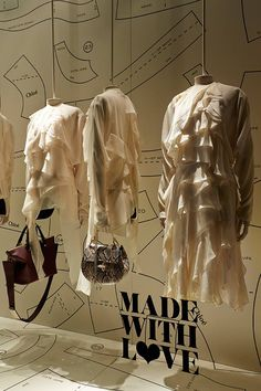 "Chloé presents: ""Made with Love"" at Harrods,London,""it's a French thing"", pinned by Ton van der Veer"