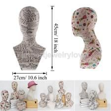 Jewelry Wigs Glasses Hat Display Stand Bust Mannequin Manikin Head Holder