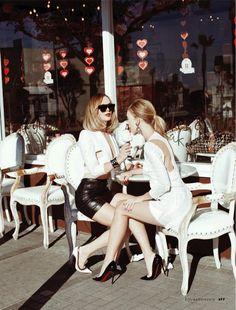 beach belles: heidi harrington-johnson and emily senko by alexis dahan for elle italia may 2013 | visual optimism; fashion editorials, shows, campaigns & more!