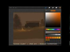 Procreate Tutorial - Winter Night - nikko  I love this program Procreate and this guy is the a pro with it!!!