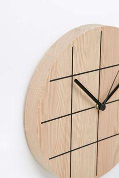 Wooden Grid Clock