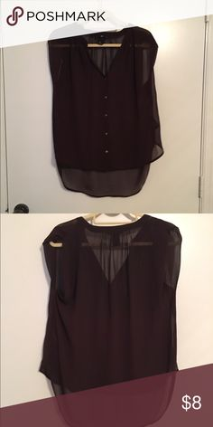 Blouse High low blouse, small square pattern, dark red H&M Tops