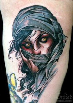 I wonder what this mysterious woman is up to! Tattoo by Justin Hartman #InkedMagazine #tattoo #tattoos #woman #lady #head #mysterious #inked #ink