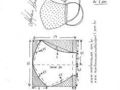 Avental de professor, cabeleireiro ou cozinheiro – Modelagem Top Sewing Hacks, Sewing Crafts, Sewing Projects, Easy Face Masks, Diy Face Mask, Mouth Mask Fashion, Crochet Mask, Nose Mask, Sewing Patterns Free