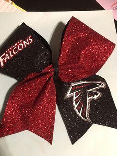 Falcons Cheer Bows by RouzandLezar on Etsy https://www.etsy.com/listing/493917392/falcons-cheer-bows