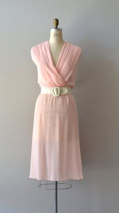 vintage chiffon dress / 1970s dress / Speak Softly dress